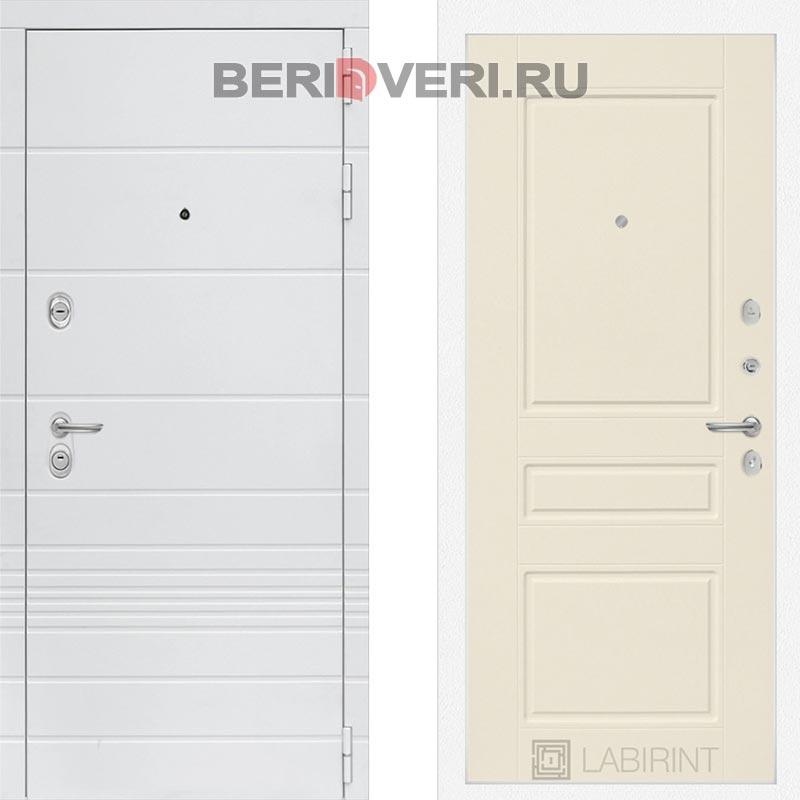 Металлическая дверь Лабиринт Трендо 03 Крем софт