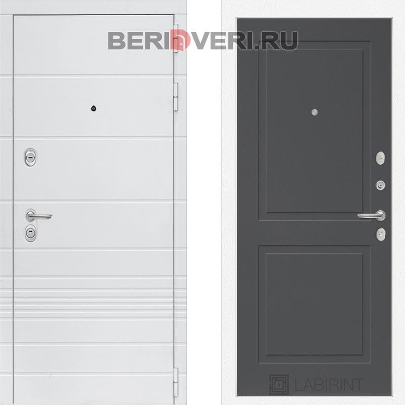 Металлическая дверь Лабиринт Трендо 11 Графит софт