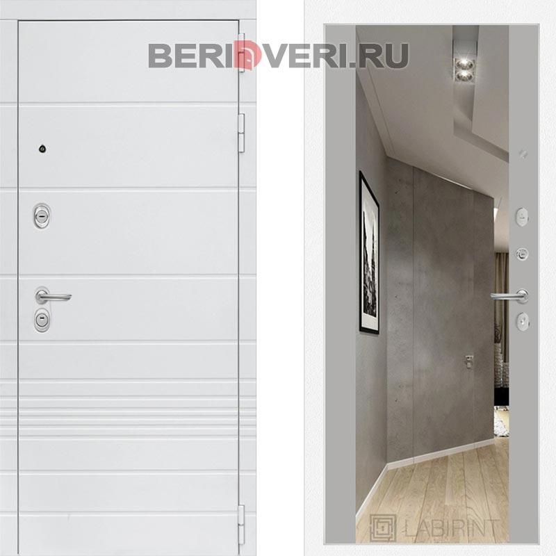 Металлическая дверь Лабиринт Трендо Зеркало Максимум Грей софт