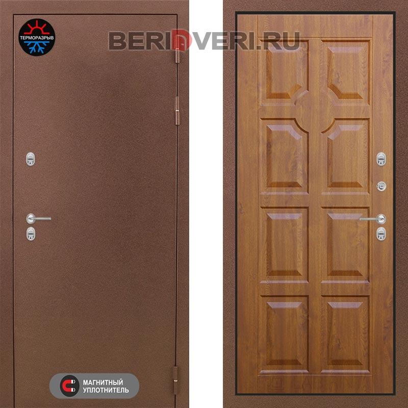Металлическая дверь Лабиринт Термо Магнит 17 Золотой дуб