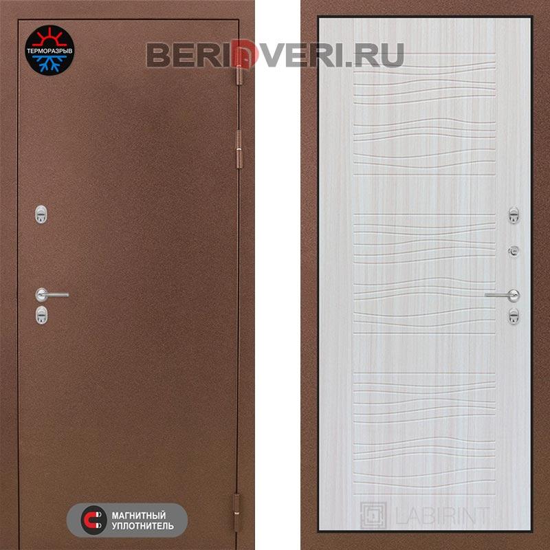 Металлическая дверь Лабиринт Термо Магнит 06 Сандал белый