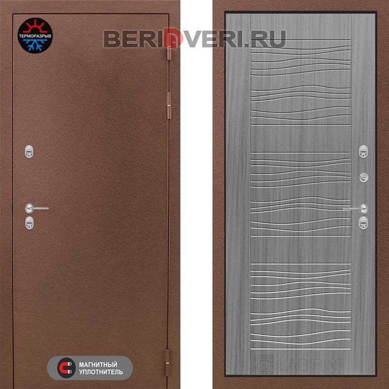 Металлическая дверь Лабиринт Термо Магнит 06 Сандал серый
