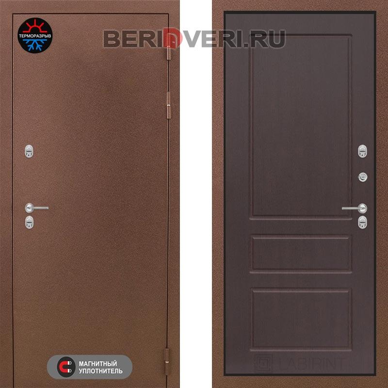 Металлическая дверь Лабиринт Термо Магнит 03 Орех премиум