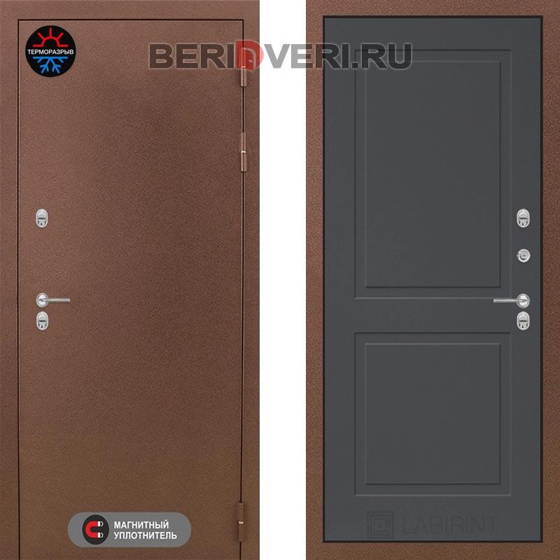 Металлическая дверь Лабиринт Термо Магнит 11 Графит софт