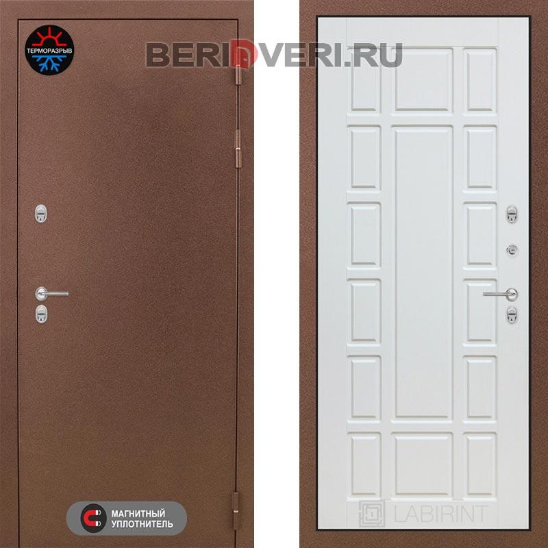 Металлическая дверь Лабиринт Термо Магнит 12 Белое дерево