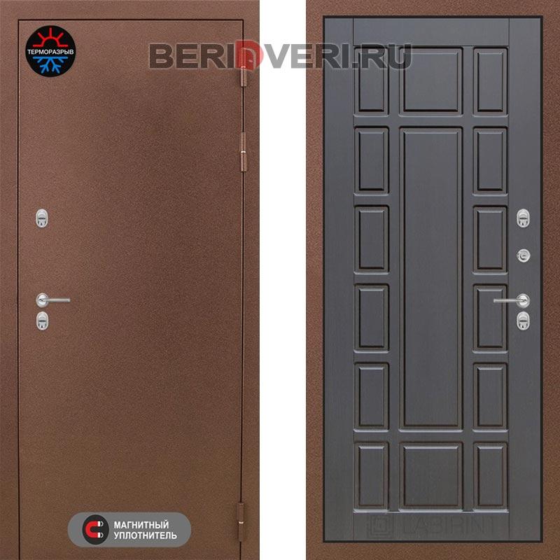 Металлическая дверь Лабиринт Термо Магнит 12 Венге