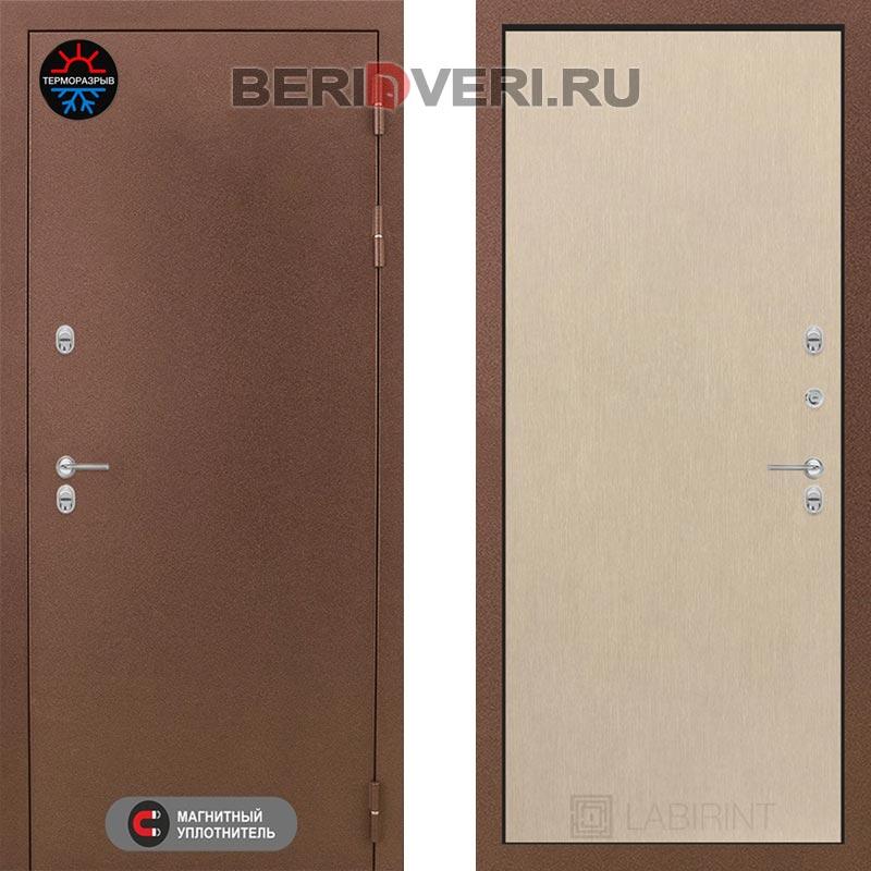 Металлическая дверь Лабиринт Термо Магнит 05 Венге светлый