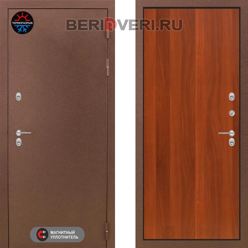 Металлическая дверь Лабиринт Термо Магнит 05 Итальянский орех