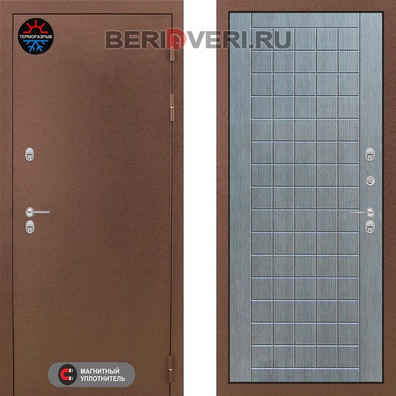 Металлическая дверь Лабиринт Термо Магнит 09 Лен сильвер грей