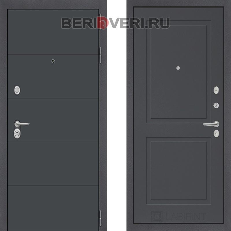 Металлическая дверь Лабиринт ART графит 11 Графит софт