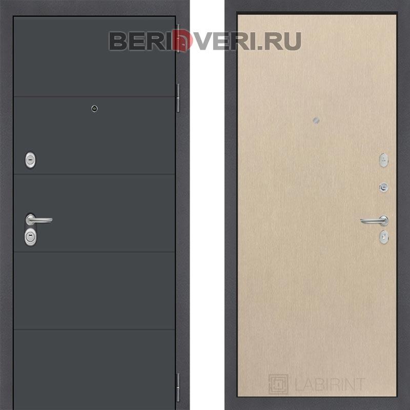 Металлическая дверь Лабиринт ART графит 05 Венге светлый
