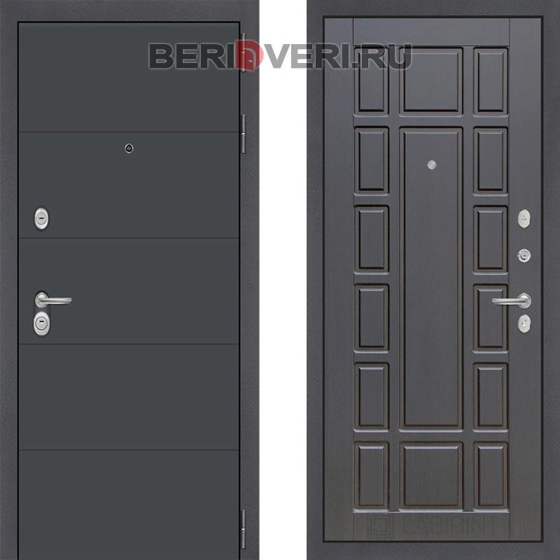 Металлическая дверь Лабиринт ART графит 12 Венге