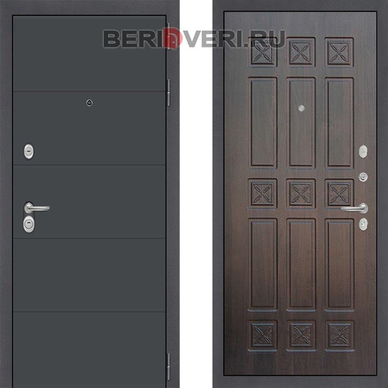 Металлическая дверь Лабиринт ART графит 16 Алмон 28