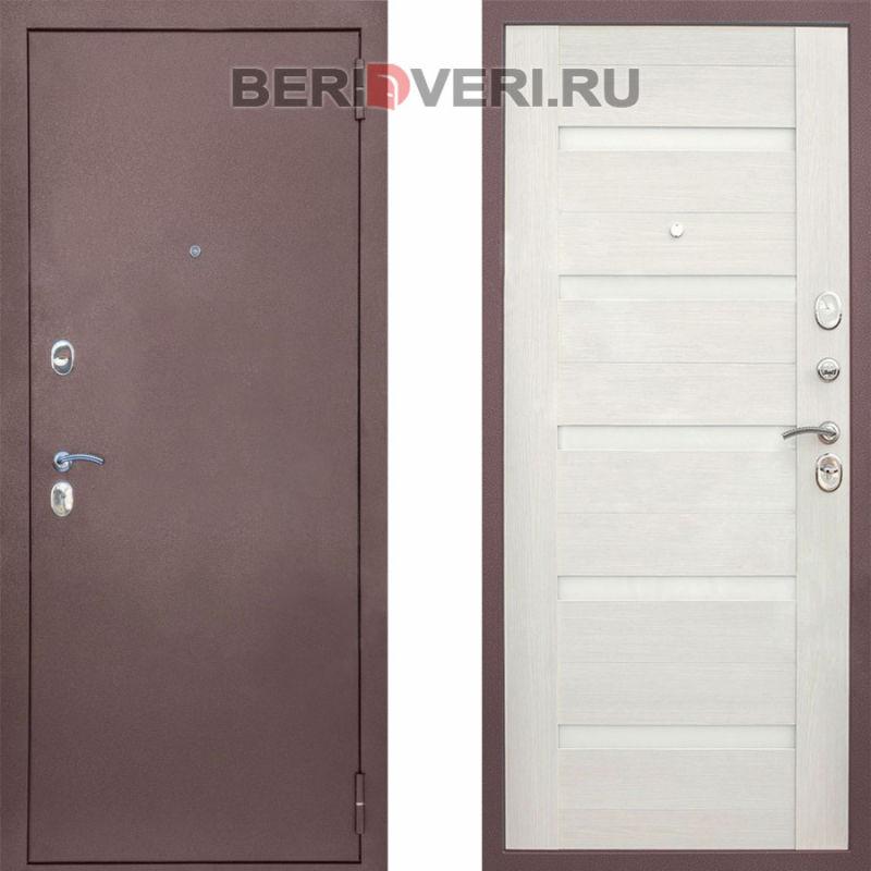 Металлическая дверь Снедо Патриот Царга Белая лиственница