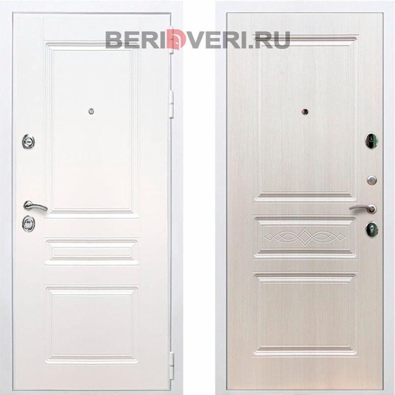 Металлическая дверь REX Премиум H ФЛ-243 Белый / Лиственница беж