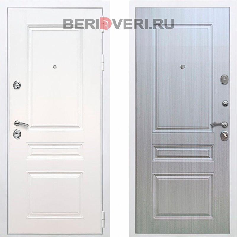 Металлическая дверь REX Премиум H ФЛ-243 Белый / Сандал белый