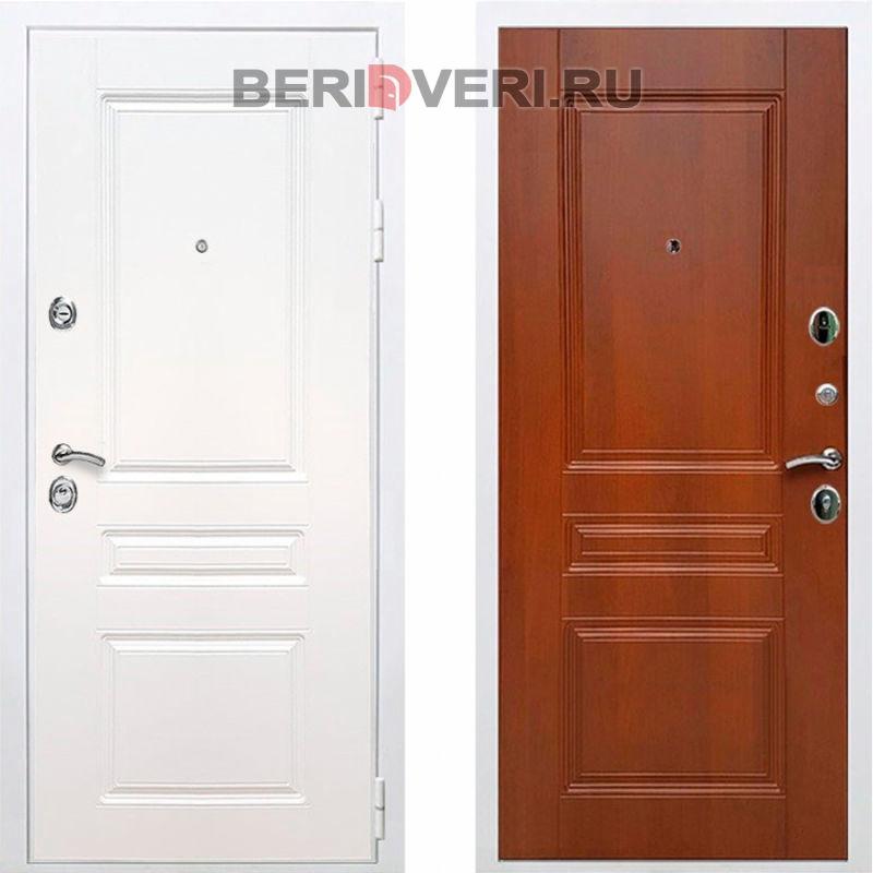 Металлическая дверь REX Премиум H ФЛ-243 Белый / Итальянский орех