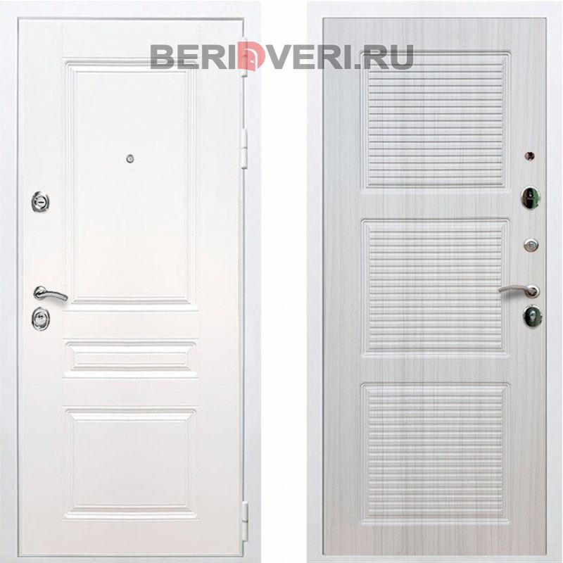 Металлическая дверь REX Премиум H ФЛ-1 Белый / Сандал белый