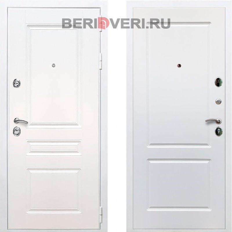 Металлическая дверь REX Премиум H ФЛ-117 Белый / Белый софт