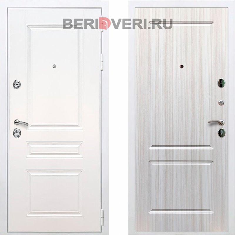 Металлическая дверь REX Премиум H ФЛ-117 Белый / Сандал белый