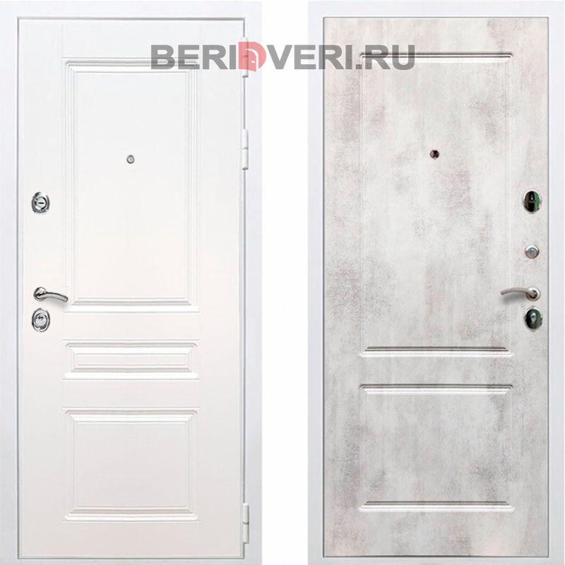 Металлическая дверь REX Премиум H ФЛ-117 Белый / Бетон светлый