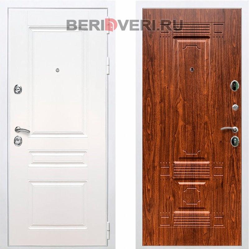Металлическая дверь REX Премиум H ФЛ-2 Белый / Береза мореная