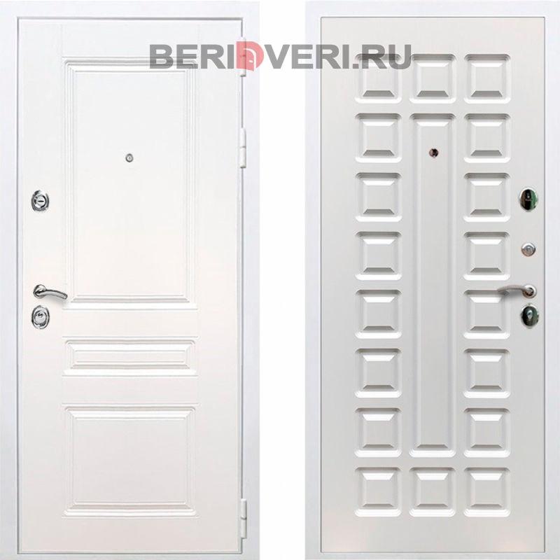 Металлическая дверь REX Премиум H ФЛ-183 Белый / Ясень белый