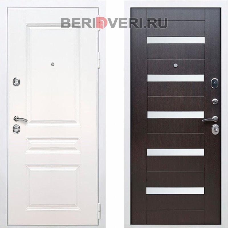 Металлическая дверь REX Премиум H СБ-14 Белый / Венге