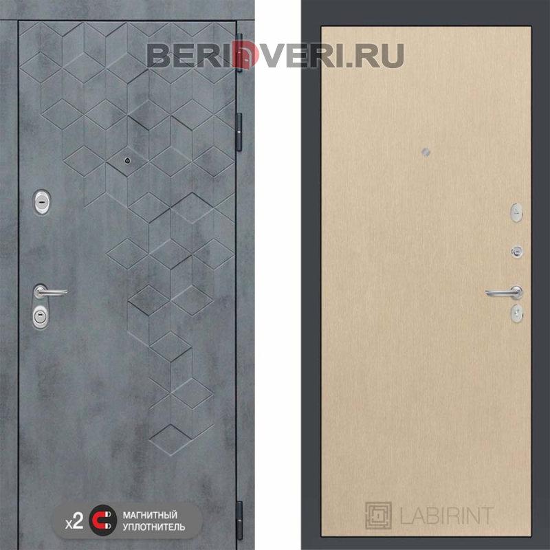 Металлическая дверь Лабиринт Бетон 05 Венге светлый