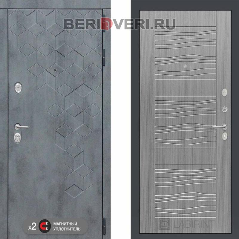 Металлическая дверь Лабиринт Бетон 06 Сандал серый