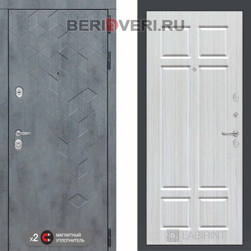 Металлическая дверь Лабиринт Бетон 08 Кристал вуд