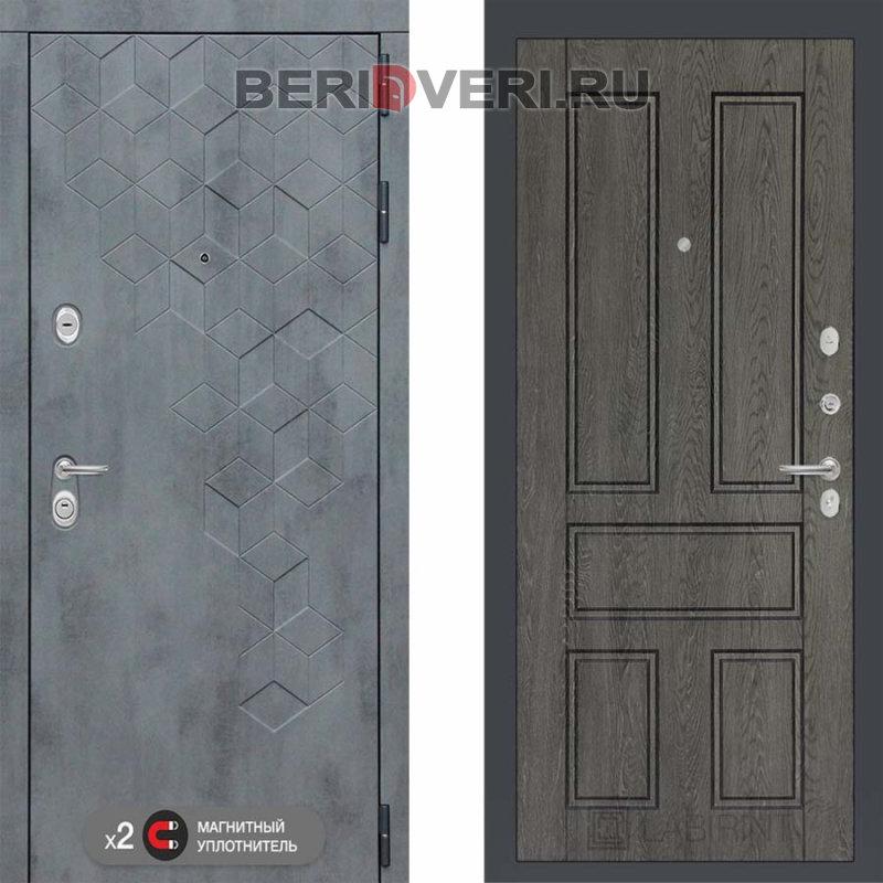 Металлическая дверь Лабиринт Бетон 10 Дуб филадельфия графит