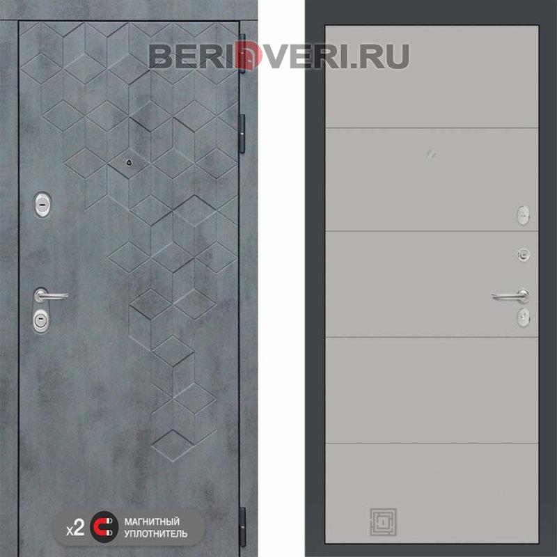 Металлическая дверь Лабиринт Бетон 13 Грей софт