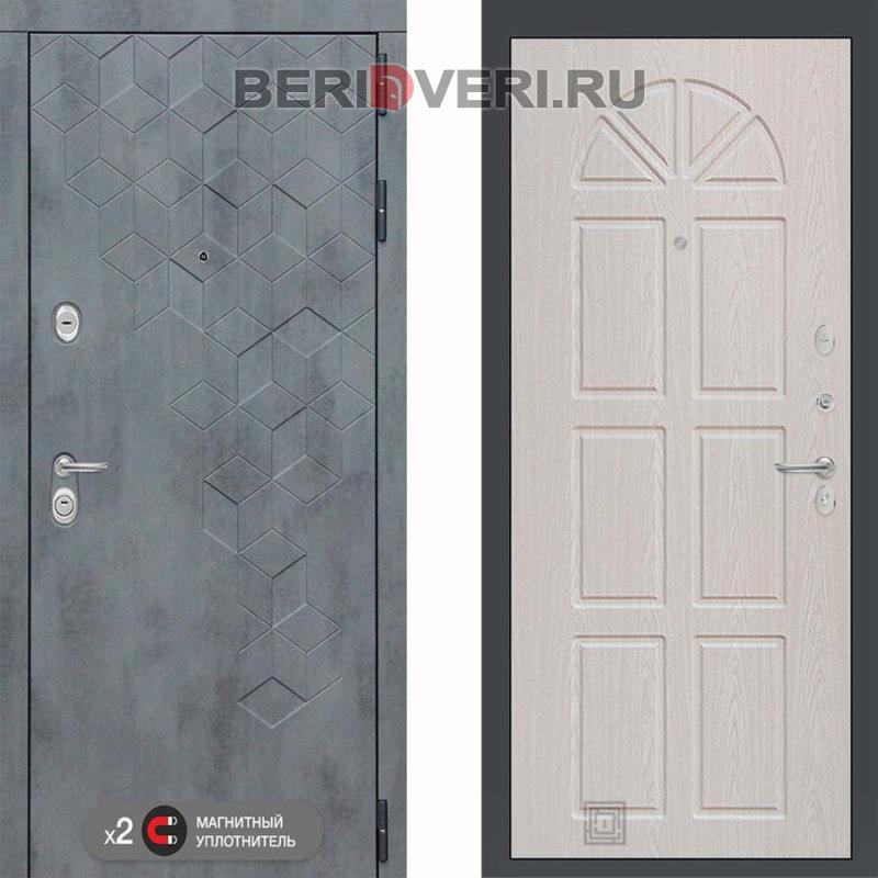 Металлическая дверь Лабиринт Бетон 15 Алмон 25