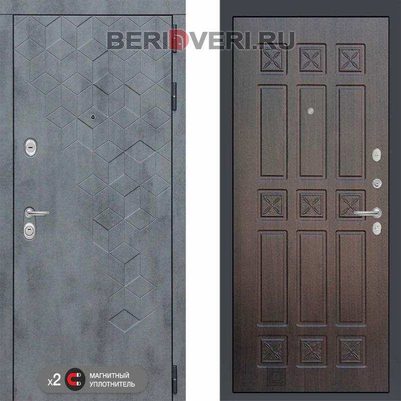 Металлическая дверь Лабиринт Бетон 16 Алмон 28