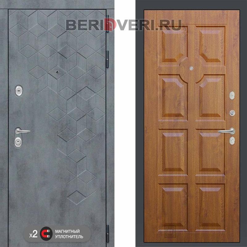 Металлическая дверь Лабиринт Бетон 17 Золотой дуб