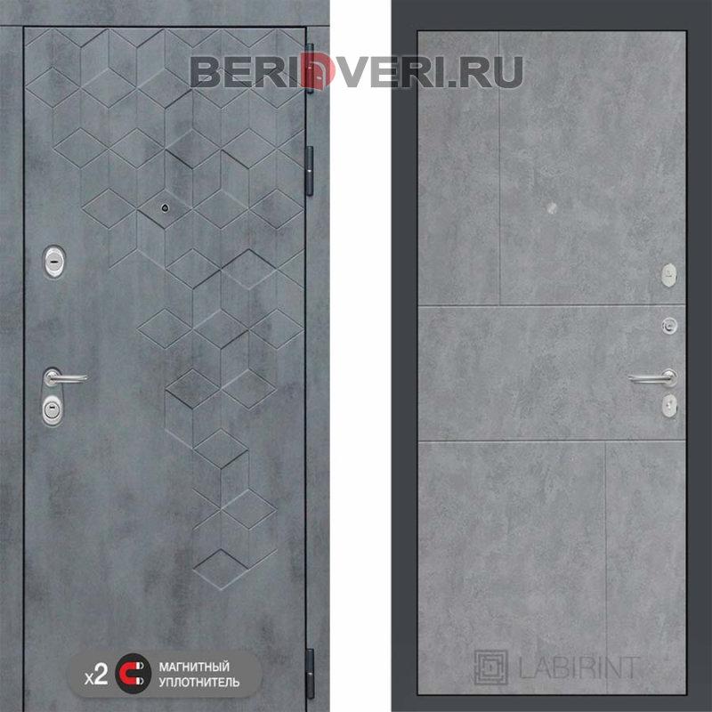 Металлическая дверь Лабиринт Бетон 21 Бетон светлый