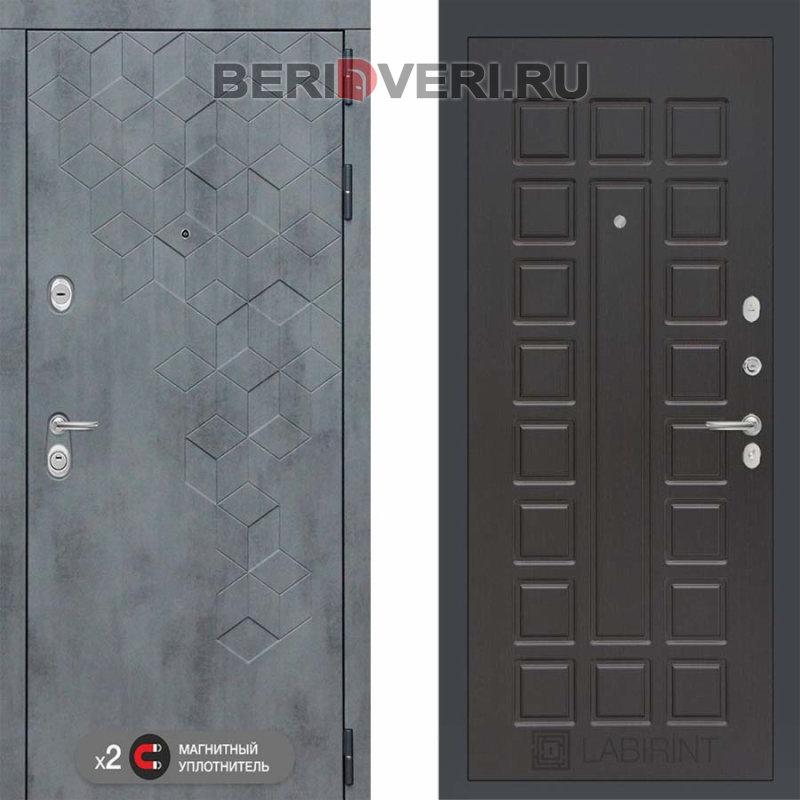 Металлическая дверь Лабиринт Бетон 04 Венге