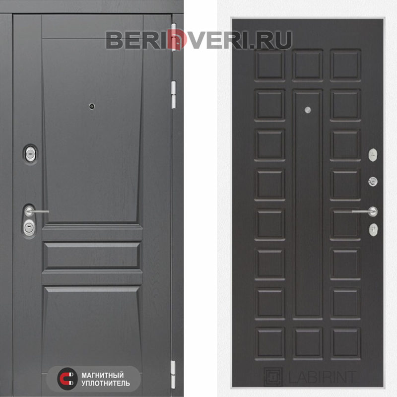Металлическая дверь Лабиринт Платинум 04 Венге