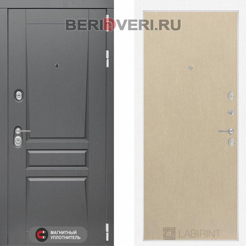 Металлическая дверь Лабиринт Платинум 05 Венге светлый