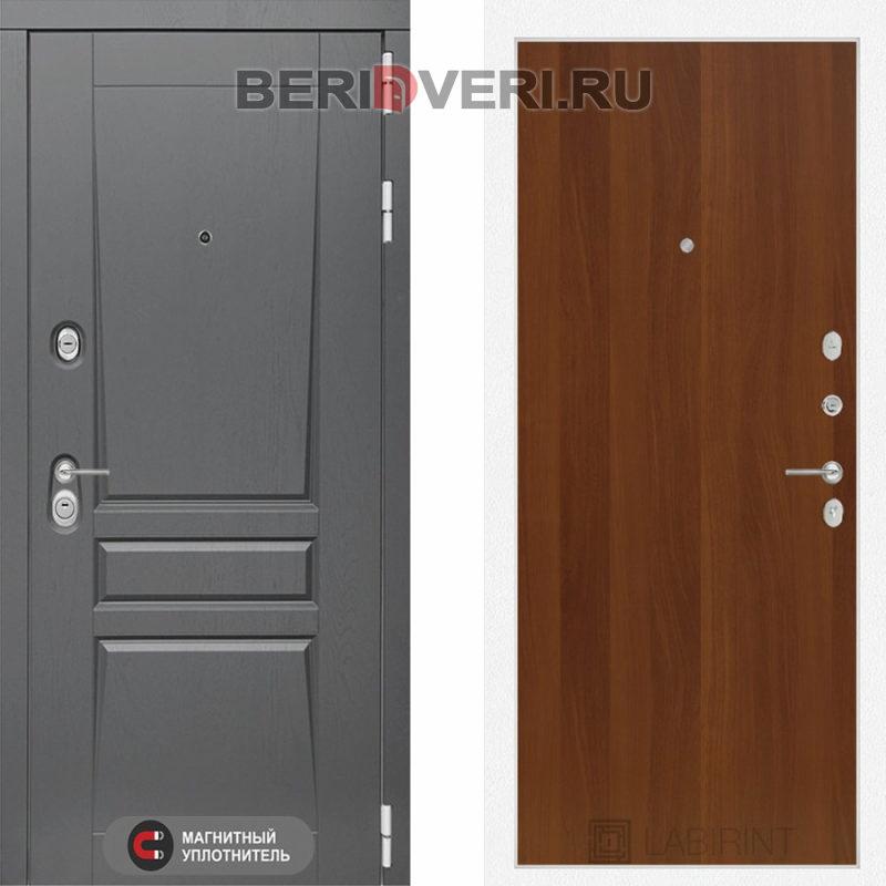 Металлическая дверь Лабиринт Платинум 05 Итальянский орех