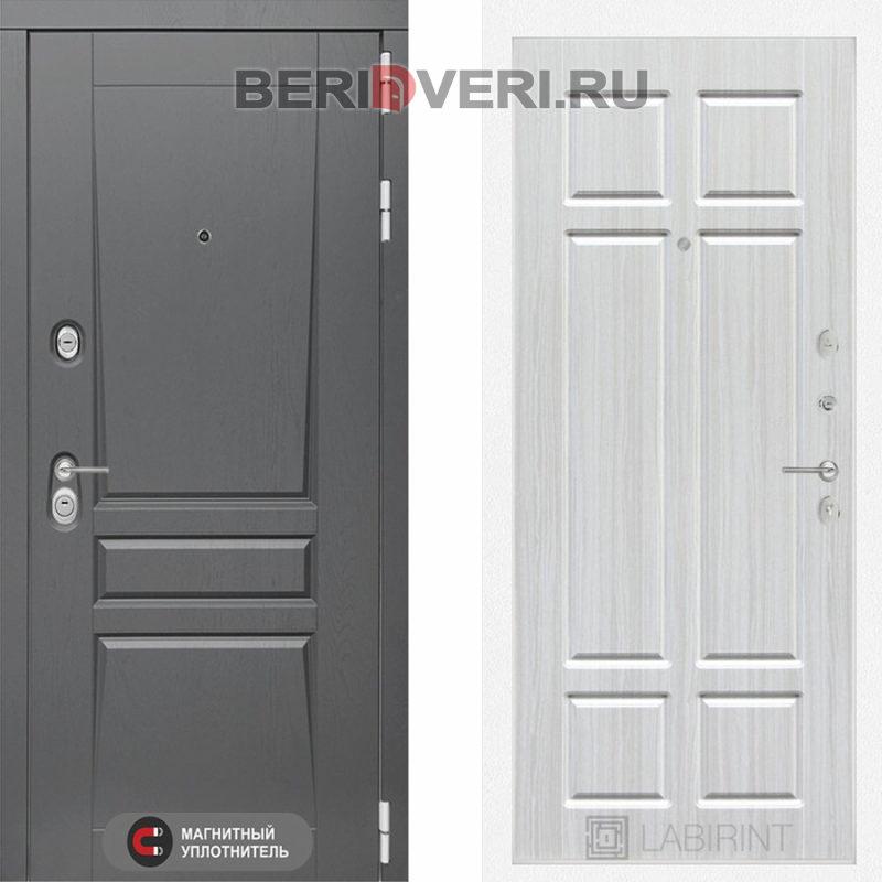 Металлическая дверь Лабиринт Платинум 08 Кристал вуд