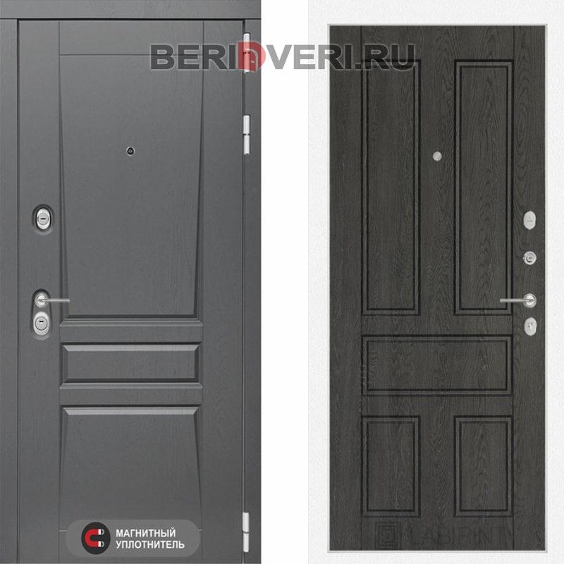 Металлическая дверь Лабиринт Платинум 10 Дуб филадельфия графит