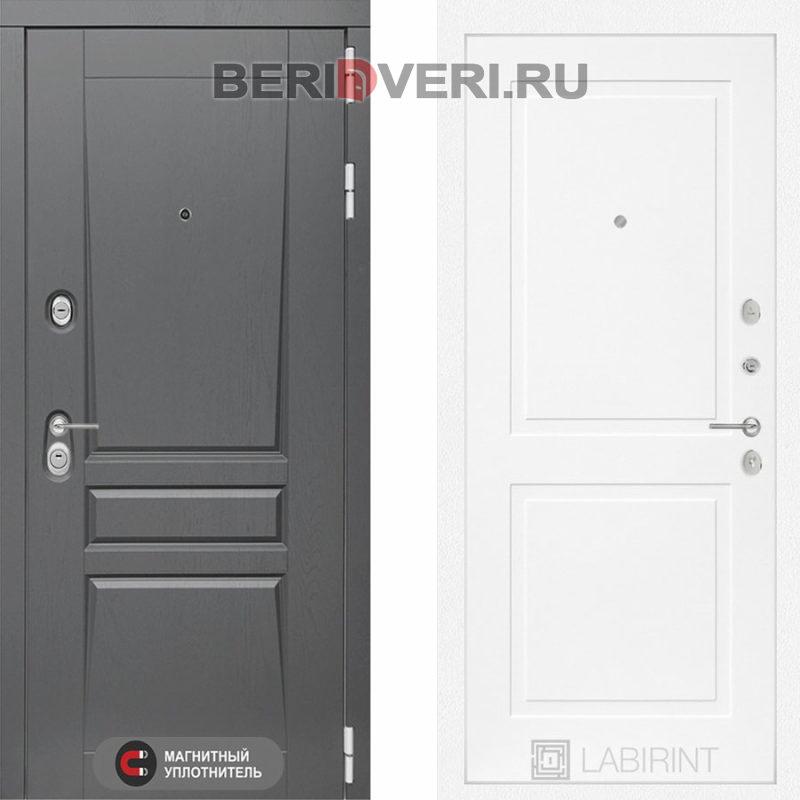 Металлическая дверь Лабиринт Платинум 11 Белый софт