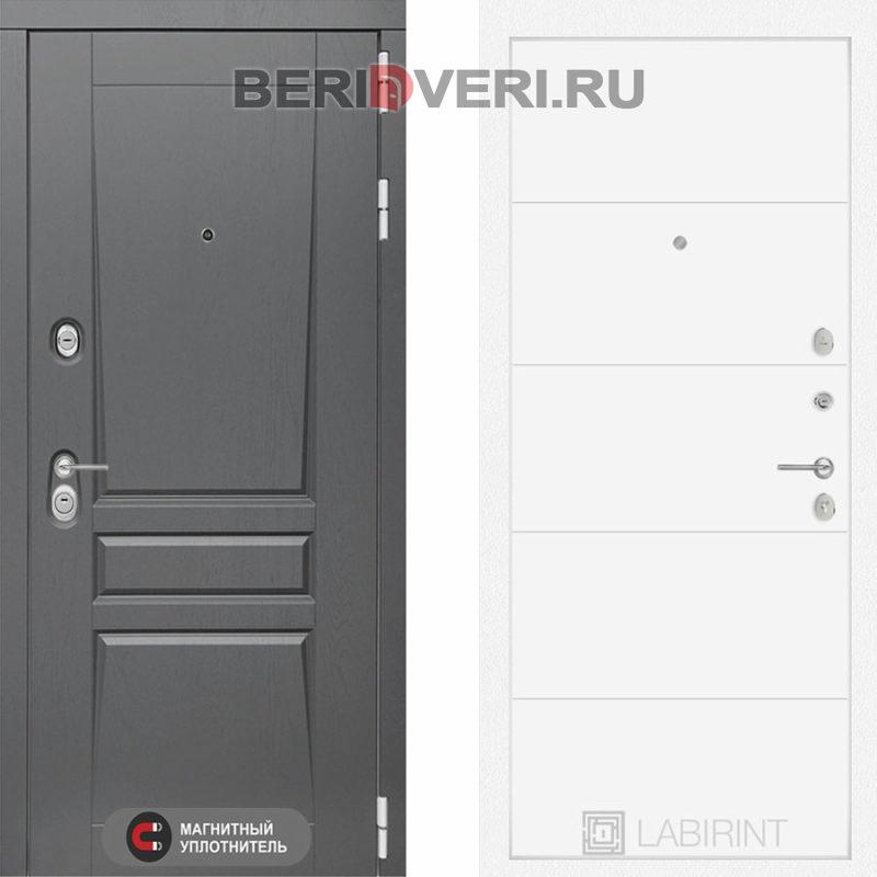 Металлическая дверь Лабиринт Платинум 13 Белый софт