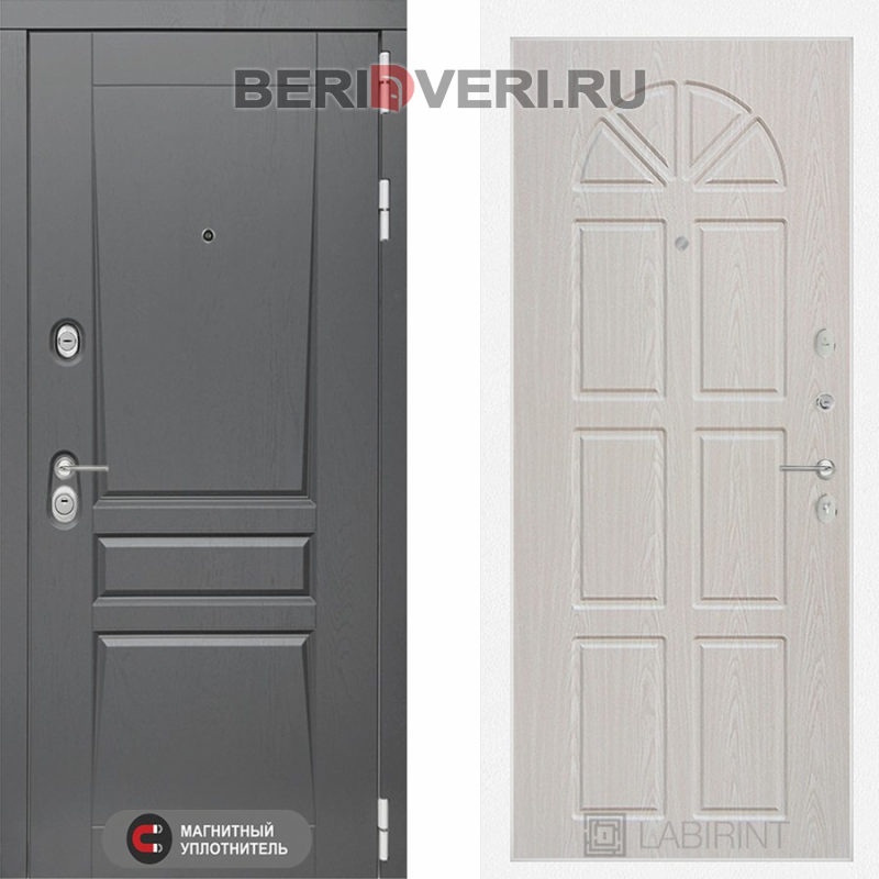 Металлическая дверь Лабиринт Платинум 15 Алмон 25
