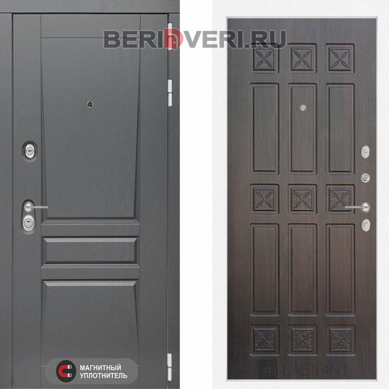 Металлическая дверь Лабиринт Платинум 16 Алмон 28