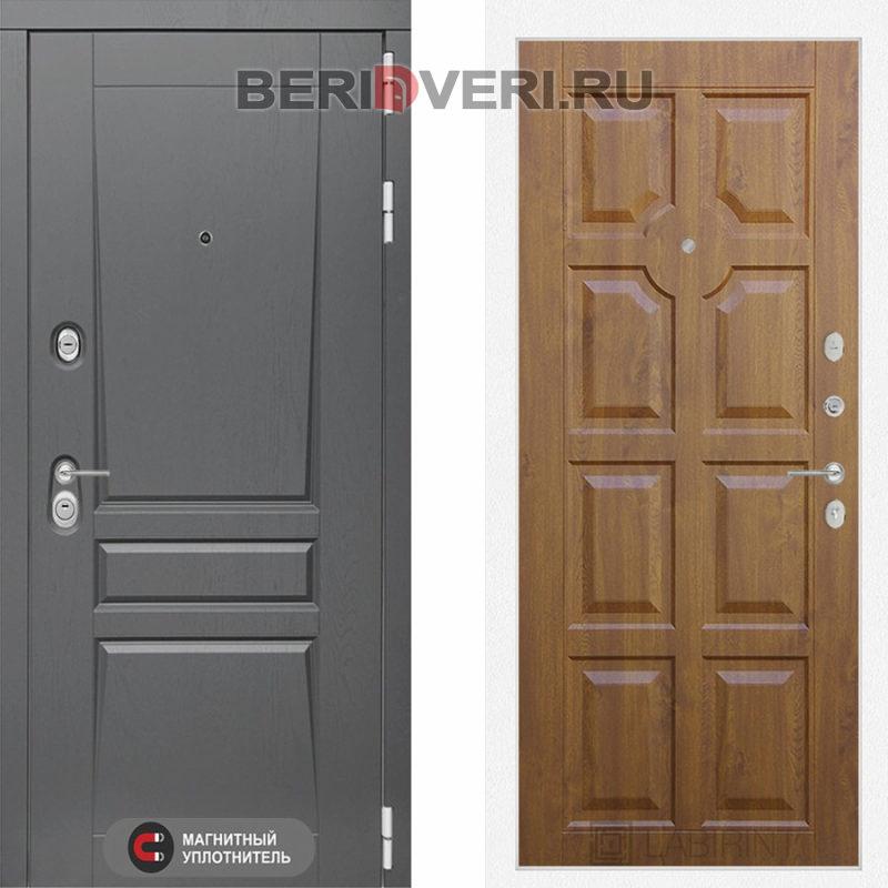 Металлическая дверь Лабиринт Платинум 17 Золотой дуб