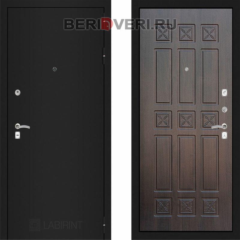 Металлическая дверь Лабиринт CLASSIC Шагрень черная 16 Алмон 28