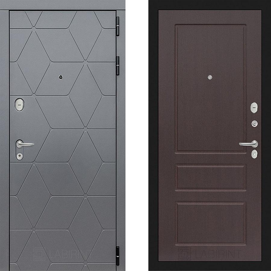 Металлическая дверь Лабиринт COSMO 03 Орех премиум